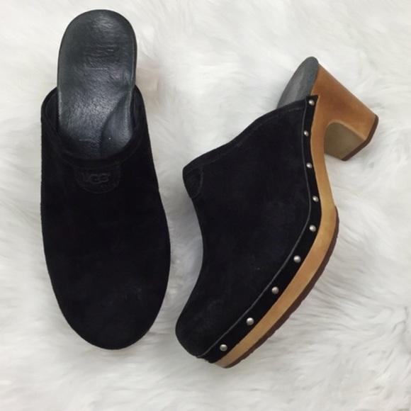 UGG Shoes   Ugg Black Suede Clogs